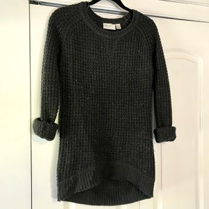 RD Style Fall Charcoal Chunky Knit Sweater Small S